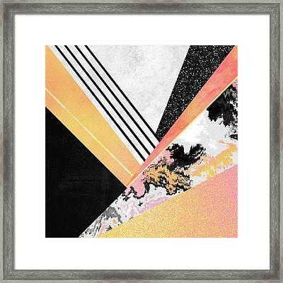 Geometric Summer Framed Print by Elisabeth Fredriksson
