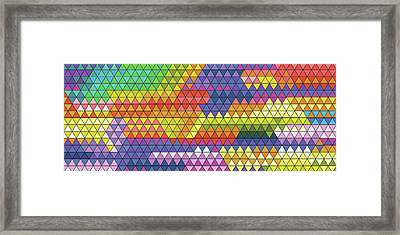 Geometric Triangles Vitral Panoramico Framed Print by Francisco Valle
