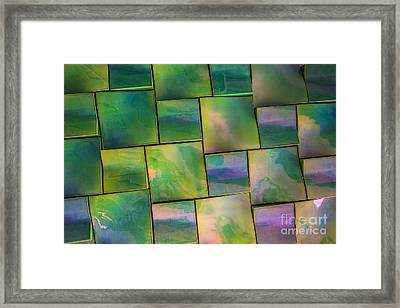 Geometrix Color Abstract Framed Print by Edward Fielding