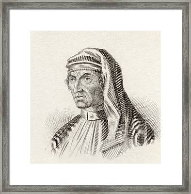 Georg Andreas Agricola, 1672 To 1738 Framed Print by Vintage Design Pics