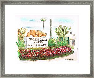 George C. Page Museum - Los Angeles - California Framed Print by Carlos G Groppa