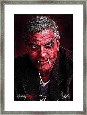 George Clooney Framed Print by Gene Spino