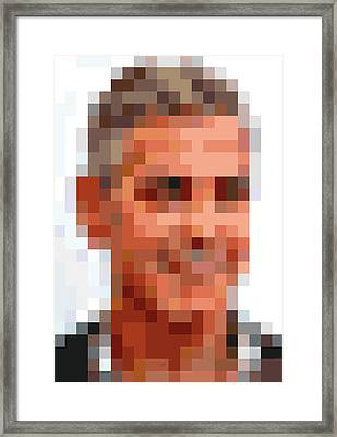 George Clooney Pixelface Framed Print by Pixel Face