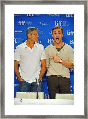 George Clooney, Ryan Gosling Framed Print by Everett
