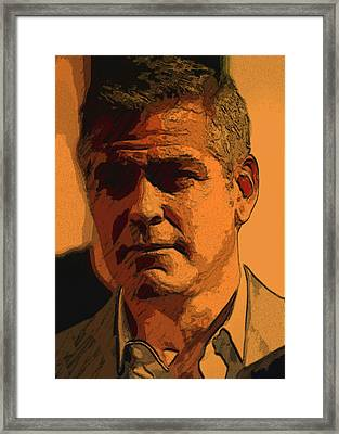 George Clooney Framed Print by Tila Gun