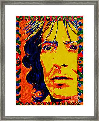 George Harrison Beatles 70's Framed Print by Margaret Juul