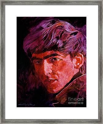 George Harrison Framed Print by David Lloyd Glover