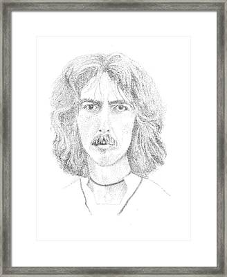 George Harrison Framed Print by Terry Adamick