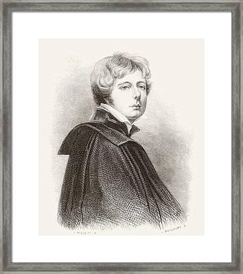 George Henry Harlow, 1787 Framed Print by Vintage Design Pics