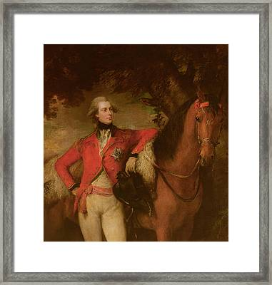 George Iv As Prince Of Wales Framed Print by Thomas Gainsborough