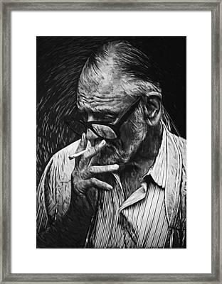 George Romero Framed Print by Taylan Apukovska