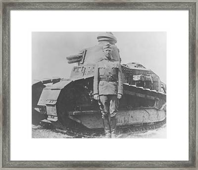 George S. Patton During World War One  Framed Print by War Is Hell Store