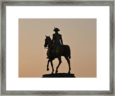 George Washington At Sunrise Framed Print by Bill Cannon