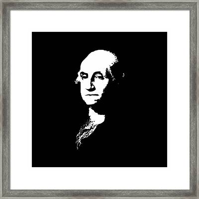 George Washington Black And White Framed Print by War Is Hell Store