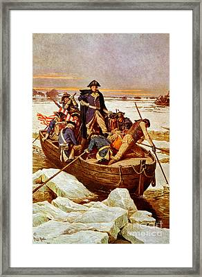 George Washington Crossing Framed Print by Science Source
