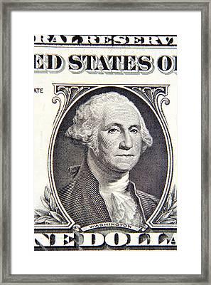 George Washington Framed Print by Les Cunliffe