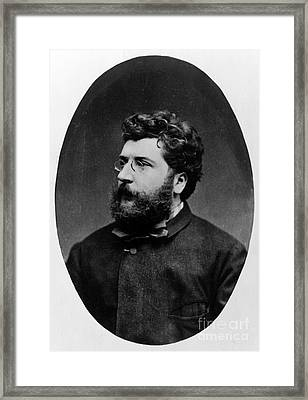 Georges Bizet, French Composer Framed Print by Science Source