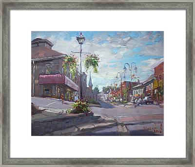 Georgetown Downtown Framed Print by Ylli Haruni