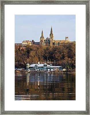 Georgetown University Waterfront  Framed Print by Brendan Reals