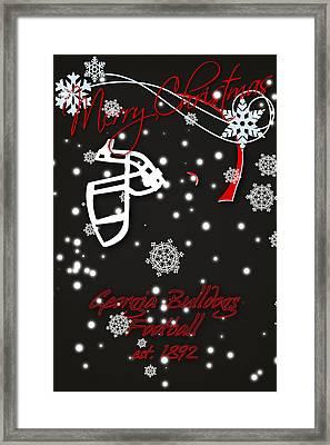 Georgia Bulldogs Christmas Card 2 Framed Print by Joe Hamilton