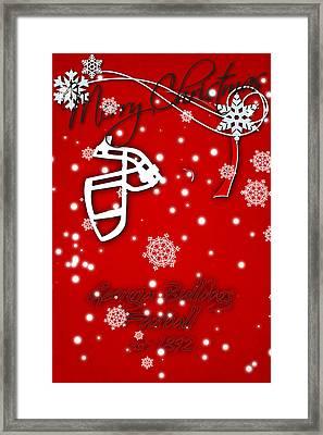 Georgia Bulldogs Christmas Card Framed Print by Joe Hamilton