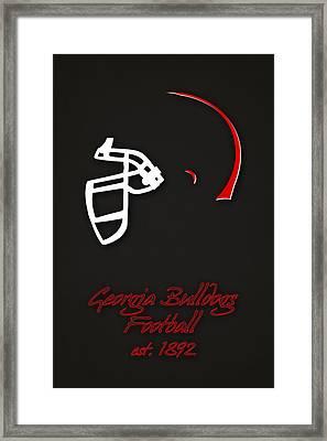Georgia Bulldogs Helmet 2 Framed Print by Joe Hamilton