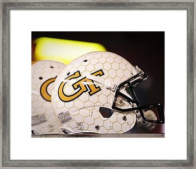 Georgia Tech Football Helmet Framed Print by Replay Photos