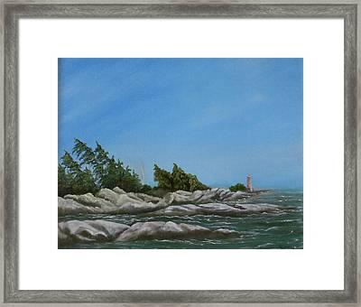 Georgian Bay Framed Print by Rebecca  Fitchett