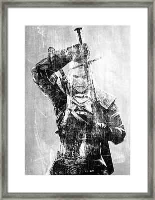 Geralt Of Rivia Framed Print by Semih Yurdabak