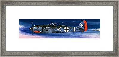 German Aircraft Of World War Two Focke Wulf Fighter Framed Print by Wilf Hardy