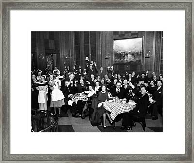 German-americans Celebrate The End Framed Print by Everett