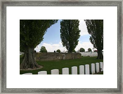 Framed Print featuring the photograph German Bunker At Tyne Cot Cemetery by Travel Pics