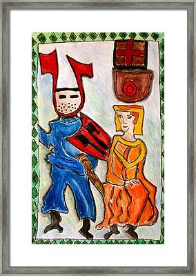 German Castle Painting Framed Print by Susan Stader