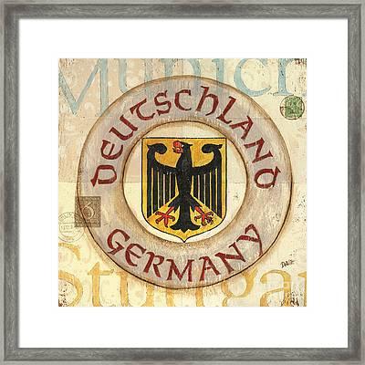 German Coat Of Arms Framed Print by Debbie DeWitt
