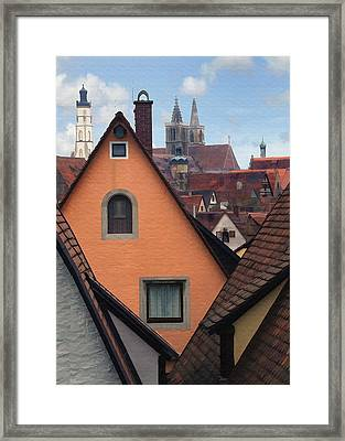 German Rooftops Framed Print by Sharon Foster