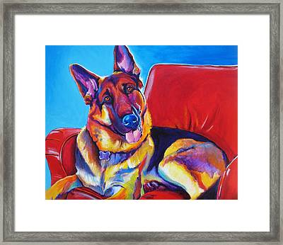 German Shepherd - Zeke Framed Print by Alicia VanNoy Call