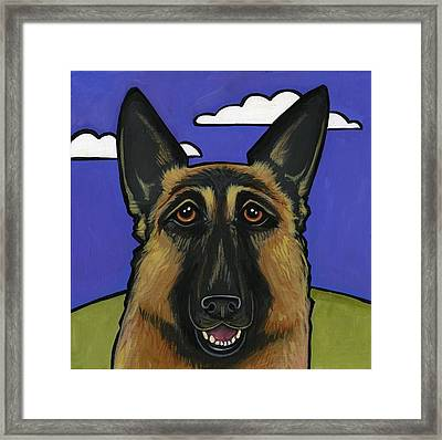 German Shepherd Framed Print by Leanne Wilkes