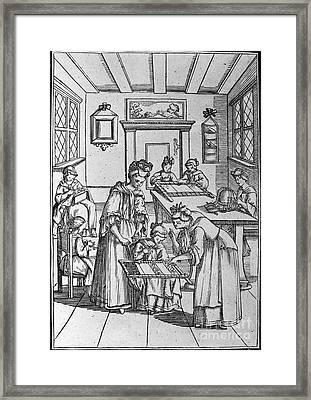 Germany: Quilting, C1700 Framed Print by Granger