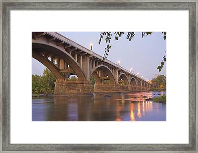 Gervais Bridge Framed Print by Steven Richardson