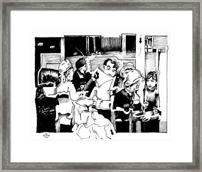 Gervex Paris Cafe Framed Print by Gary Peterson