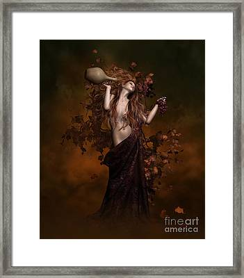 Geshtinanna Goddess Of Grape Vine Framed Print by Shanina Conway