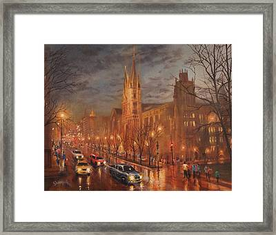 Gesu Church And Marquette Hall Framed Print by Tom Shropshire