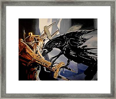 Get Away From Her You Bitch Framed Print by Al  Molina