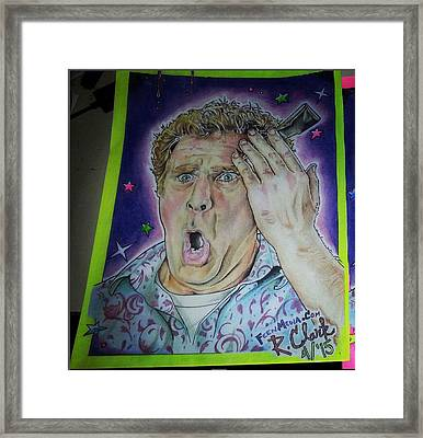 Get Hard Framed Print by Ronald Clark