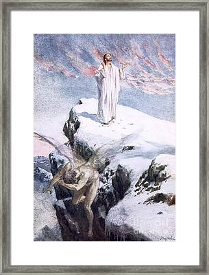 Get Thee Hence, Satan Framed Print by William Brassey Hole