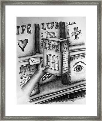 Getting A Life Framed Print by Tracy Glantz