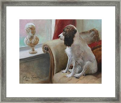 Getting Acquainted Framed Print by Anna Rose Bain