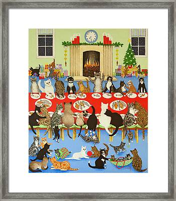 Getting Together Framed Print by Pat Scott