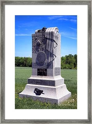Gettysburg National Park 121st Pennsylvania Infantry Memorial  Framed Print by Olivier Le Queinec