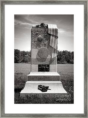 Gettysburg National Park 121st Pennsylvania Infantry Monument Framed Print by Olivier Le Queinec